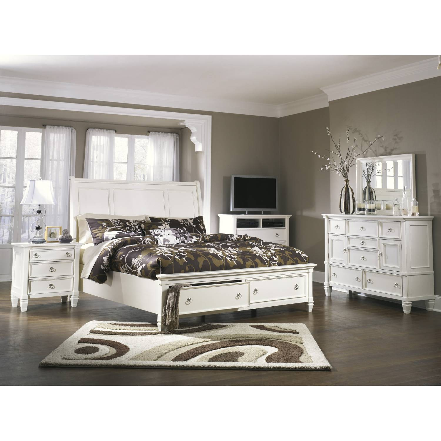 B672 Prentice California King Sleigh Bedroom Sets 4 Piece