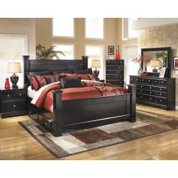 B271 Shay King Poster (Under Bed Storage) Bedroom Sets 4 Piece