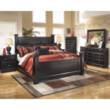 B271 Shay King Poster Bedroom Sets 4 Piece