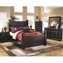 B271 Shay Queen Poster (Under Bed Storage) Bedroom Sets 4 Piece