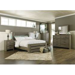 B248 Zelen Queen Poster Bedroom Sets 4 Piece