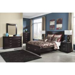 B217 Zanbury Queen Panel Storage Bedroom Sets 4 Piece