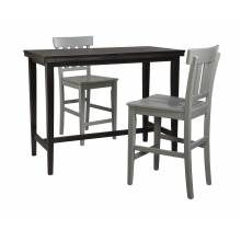 D250 Kimonte 3PC SETS TABLE & 2 Barstool Gray