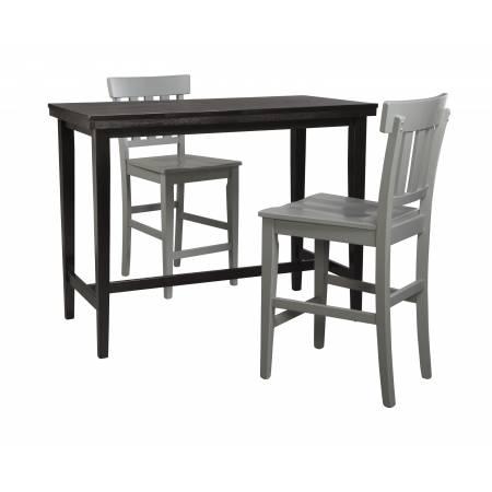 D250 Kimonte 3PC SETS TABLE & 2 Barstool Gray
