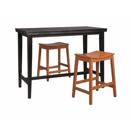 D250 Kimonte 3PC SETS TABLE & 2 Stool Red