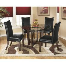 D357 Charrell 5PC SETS TABLE & 4 CHAIRS Black