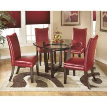 D357 Charrell 5PC SETS TABLE & 4 CHAIRS Red