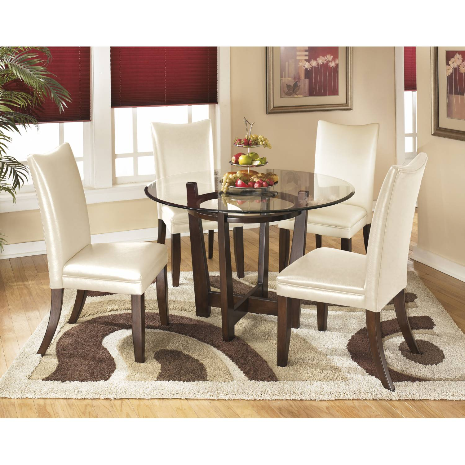 Charrell Dining Table And 4 Chairs, Charrell Dining Room Chair