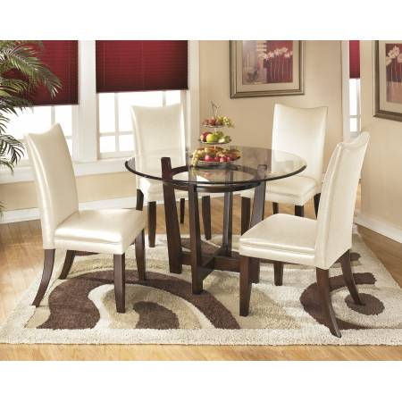 D357 Charrell 5PC SETS TABLE & 4 CHAIRS Ivory