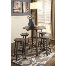 D307 Challiman 5PC SETS TABLE & 4 CHAIRS Counter Table