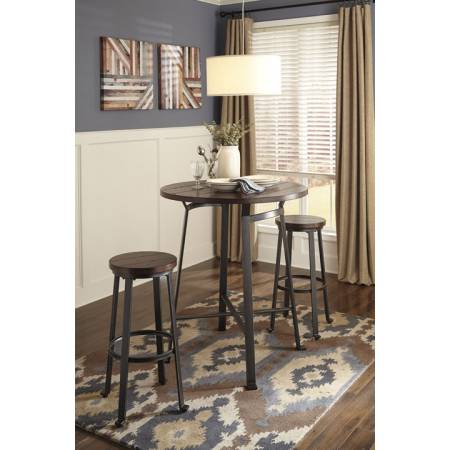 D307 Challiman 3PC SETS TABLE & 2 CHAIRS Bar Table