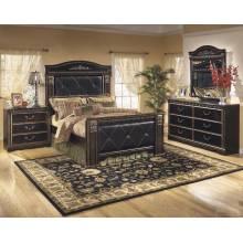 B175 Coal Creek Queen UPH Mansion Bedroom Sets 4 Piece