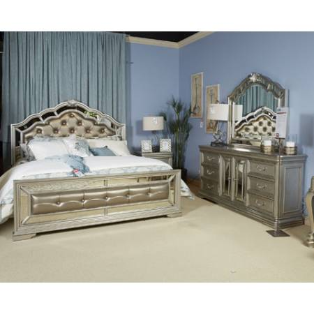 B720 Birlanny Cal King Upholstered Bed