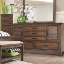 200973 Franco 5 Drawer Dresser with 2 Louvered Doors