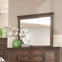 200974 Franco Mirror with Burnished Oak Wood Frame