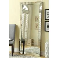 Accent Mirrors Contemporary Floor Mirror with Mirrored Frame