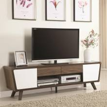 Entertainment Units Two-Tone Mid-Century Modern TV Console