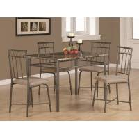 Dinettes 5 Piece Dining Set w/ Leg Table and 4 Side Chairs