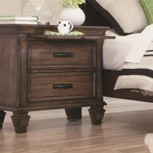 200972 Franco 2 Drawer Nightstand with Pull Out Tray