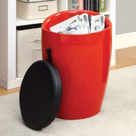 ROLLA STORAGE STOOL RED CM-AC6228RD