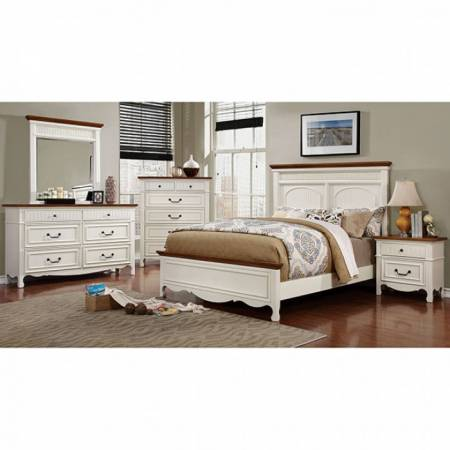 GALESBURG BEDROOM 4 Pc SETS - White & Oak