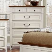 GALESBURG Chest - White & Oak