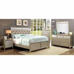 BRIELLA BEDROOM 4 Pc SETS - Silver