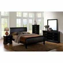 LOUIS PHILIPPE III BEDROOM 4 Pc SETS - Black