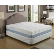 """CHARCOGEL Queen 12"""" Gel and Charcoal Infused Memory Foam Mattress"""