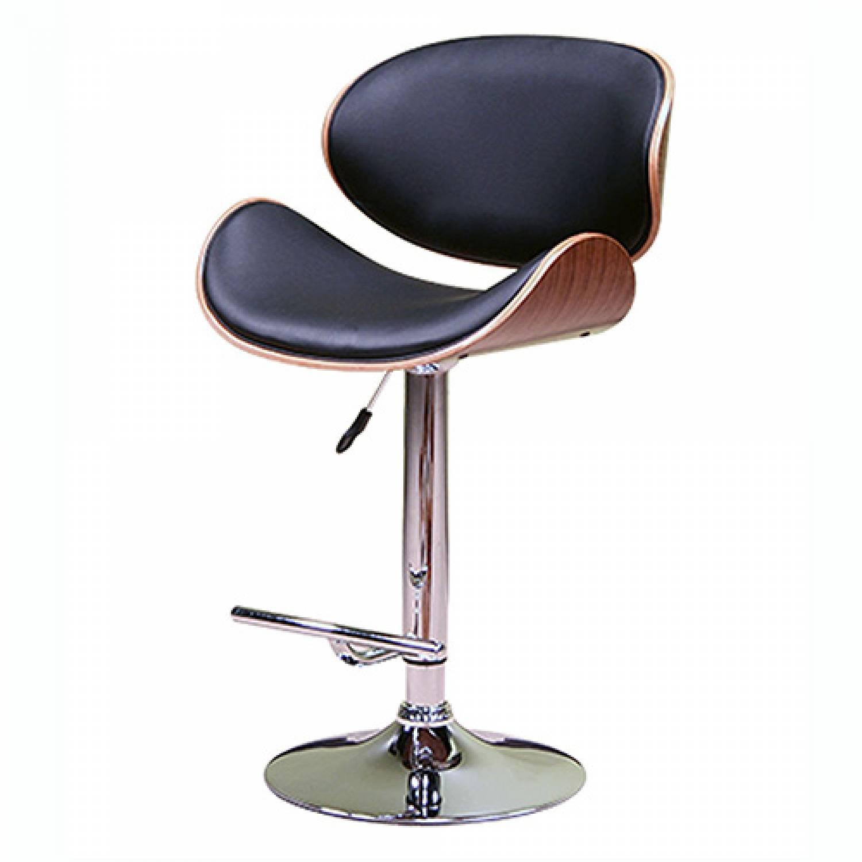 Strange Acbs34 Black Adjustable Height Swivel Bar Stool With Cushion Lamtechconsult Wood Chair Design Ideas Lamtechconsultcom