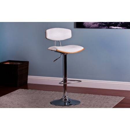 ACBS16 WHITE CROCODILE ADJUSTABLE SWIVEL BARSTOOL