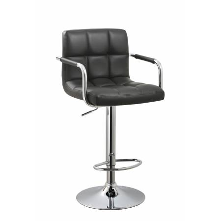 ADJUSTABLE BLACK ADJUSTABLE SWIVEL BARSTOOL BY AC PACIFIC