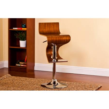ACBS12 ADJUSTABLE WALNUT SWIVEL BARSTOOL