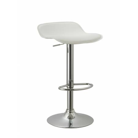 ACBS11 WHITE ADJUSTABLE SWIVEL BARSTOOL SET OF 2