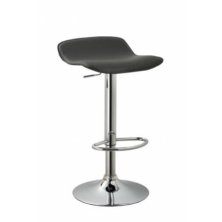 ACBS11 BLACK ADJUSTABLE SWIVEL BARSTOOL SET OF 2