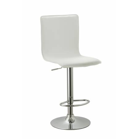 ACBS10 WHITE ADJUSTABLE SWIVEL BARSTOOL SET OF 2