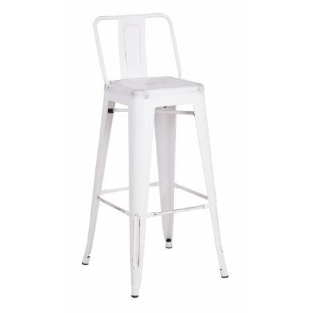 ACBS02 30 INCH WHITE STEEL STOOL SET OF 2