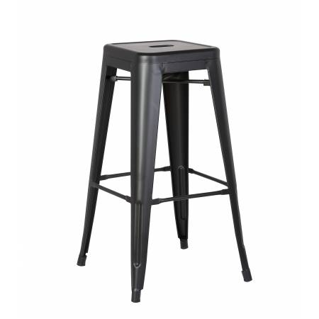 ACBS01 30 INCH BLACK STEEL STOOL SET OF 2