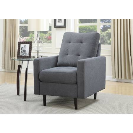 DONALD POLYESTER SLATE BLUE ACCENT CHAIR
