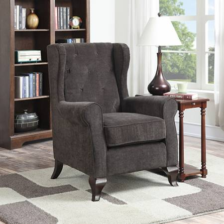 CAROLYN SONOMA ACCENT CHAIR IN STORM FINISH