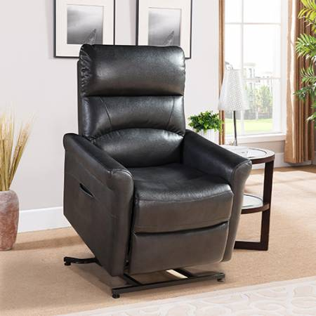 COLBY LEATHER GEL JORDAN CHARCOAL CHAIR