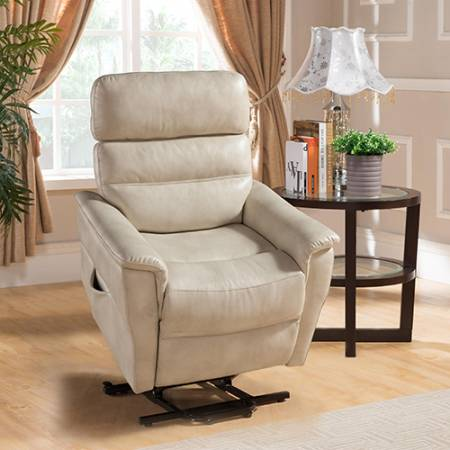 AVERY LEATHER GEL BLANTHE CREAM CHAIR