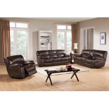 LEIGHTON VEGABOND ELK POLYESTER RECLINING SOFA COUCH