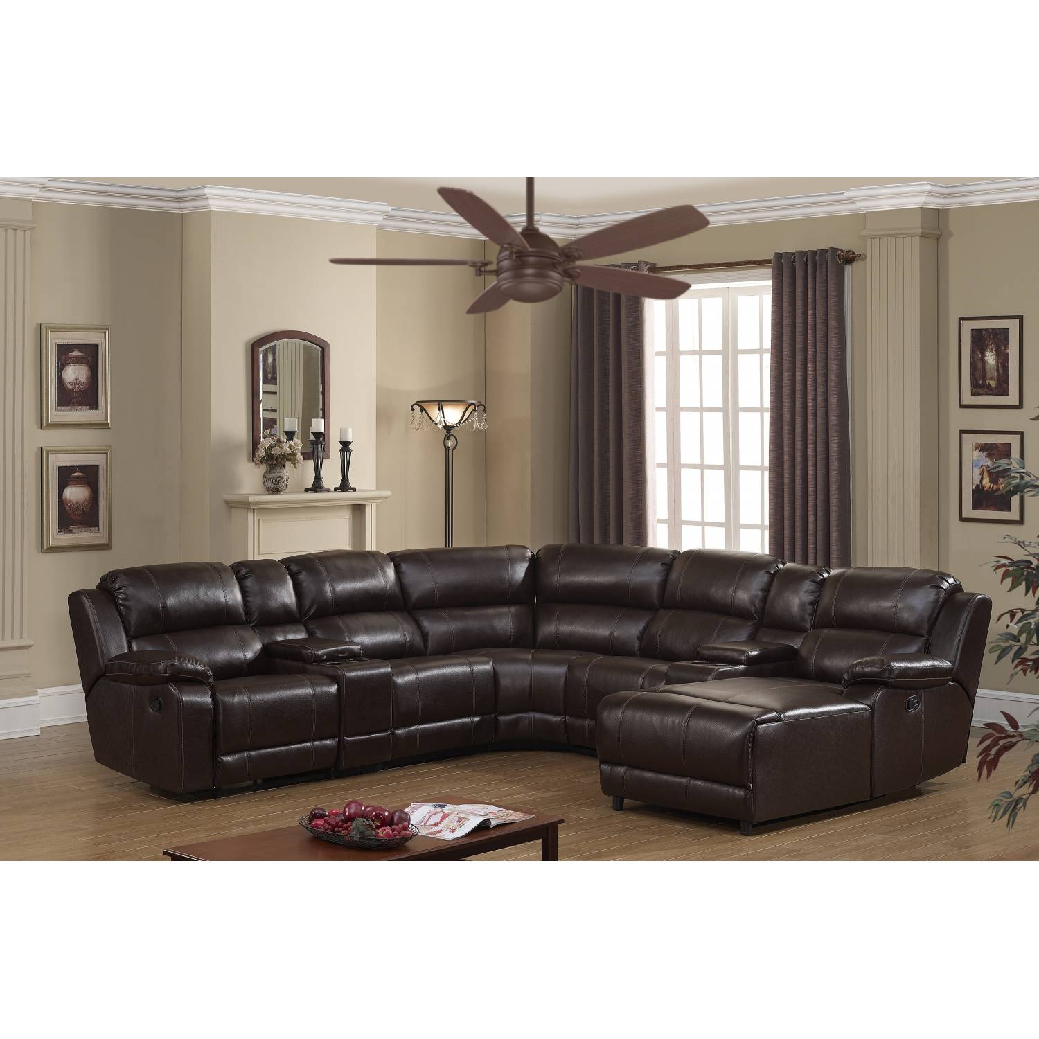 COLTON DARK BROWN SECTIONAL SOFA