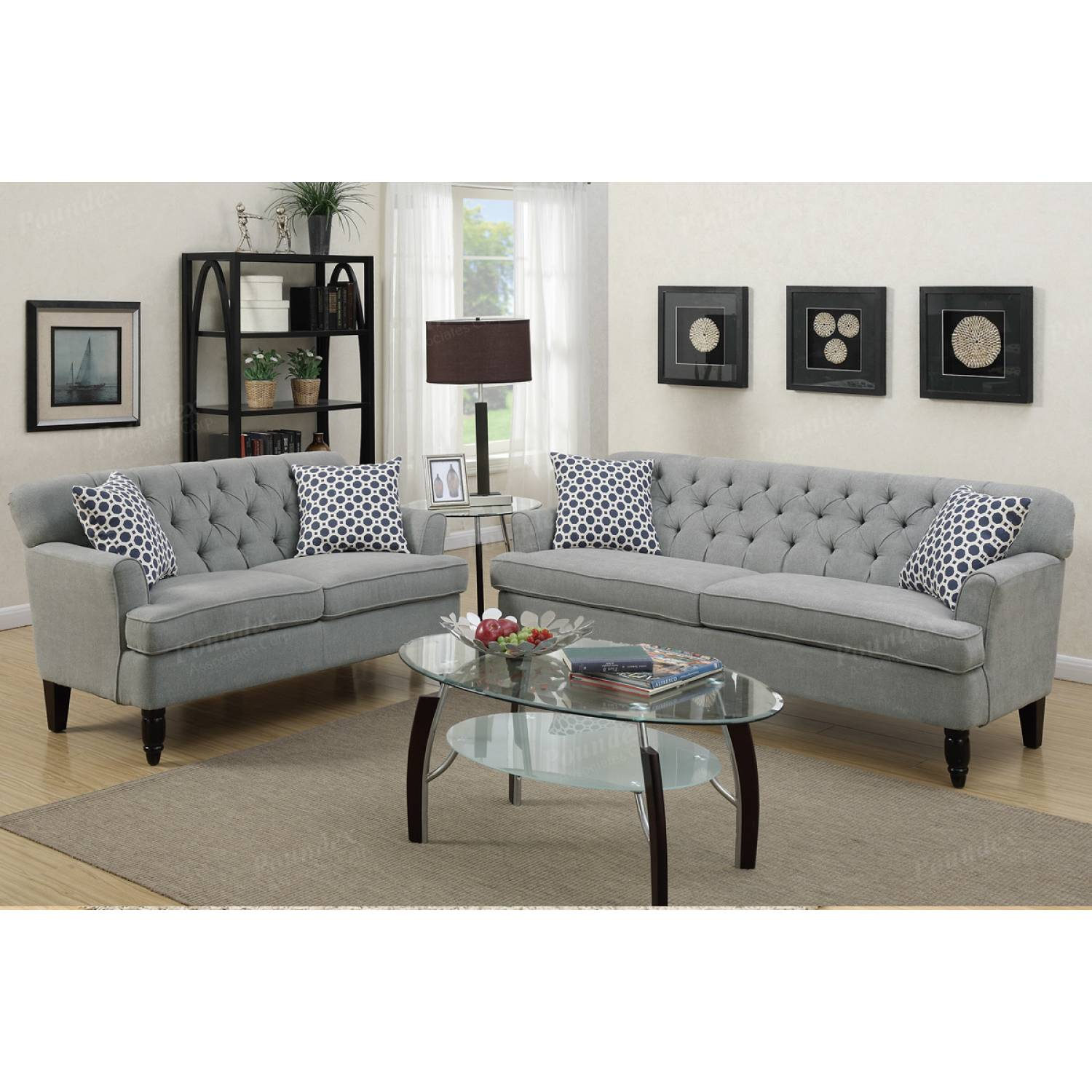 2 Pcs Sofa Set F6940