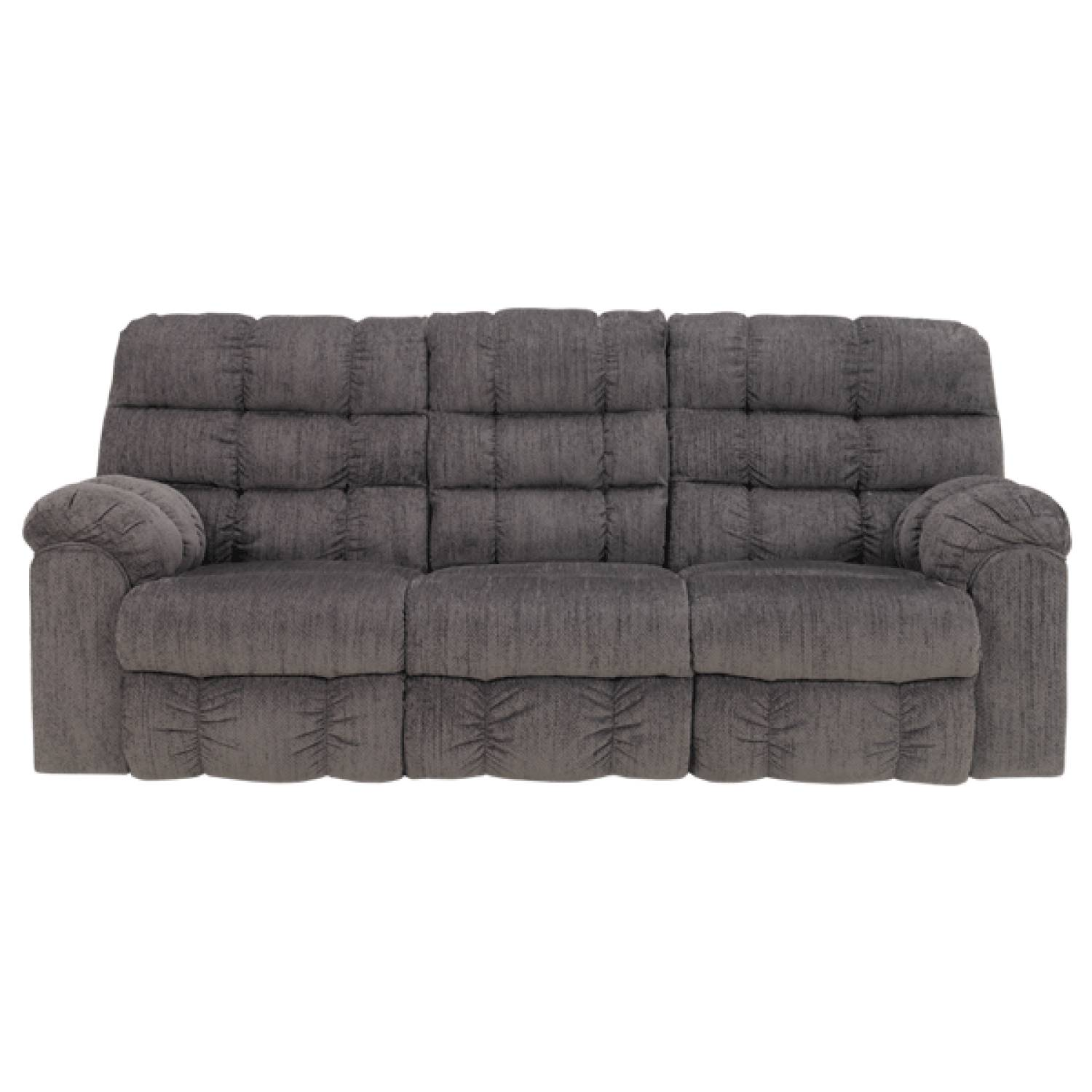 Acieona slate rec sofa w drop down table for Sectional sofa with drop down table