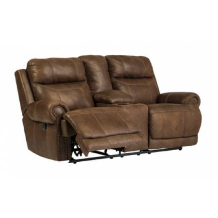 38400 Austere Dbl Rec Loveseat w/ Console & Power