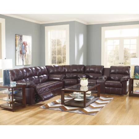 Kennard - Burgundy Sectional Sofa