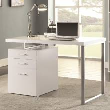 Desks Writing Desk with File Drawer and Reversible Set-Up
