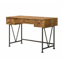 Barritt Industrial Style Writing Desk with 3 Drawers